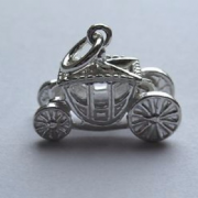 Sterling Silver Coronation Coach Charm